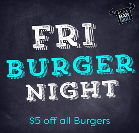 Specials Fri Burger Night