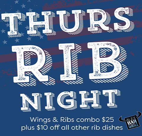 Specials Thurs Rib Night