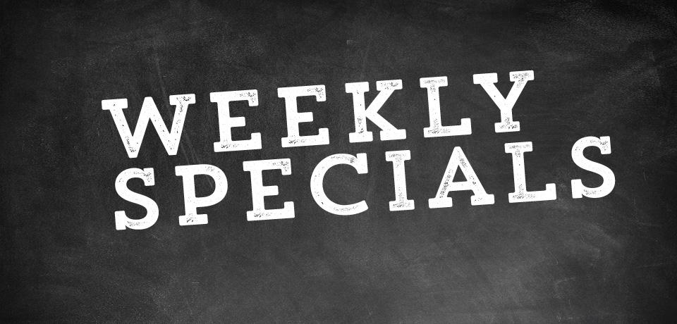 Specials weekly specials